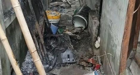 Cháy nhà trọ sau cãi nhau, một người bỏng nặng
