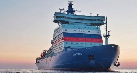 Siêu tàu phá băng hạt nhân Nga mạnh nhất thế giới ra khơi