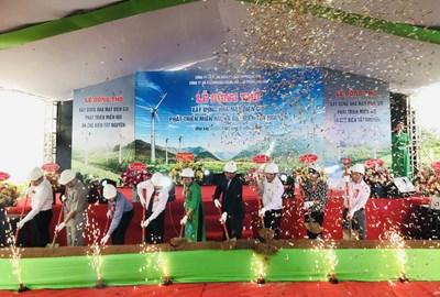 Gia Lai: Khởi công 2 dự án điện gió với tổng sản lượng điện hơn 319,5 triệu kW/năm