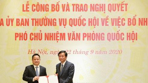 Đồng chí Vũ Minh Tuấn giữ chức Phó Chủ nhiệm Văn phòng Quốc hội