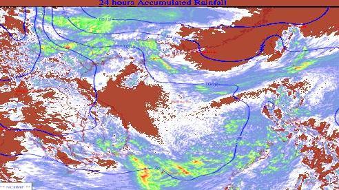 Từ chiều mai, miền Bắc xuất hiện mưa lớn