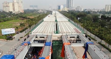 Tổ chức giao thông đoạn cầu cạn Mai Dịch - Nam Thăng Long