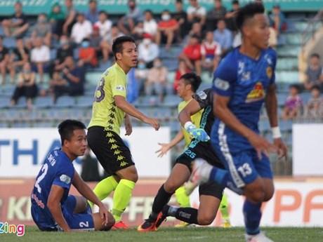 Hai đội Quảng Nam và Hà Nội FC chia điểm trên sân Tam Kỳ