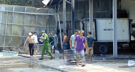 Thợ hàn gây cháy tại cơ sở mua bán thủy sản