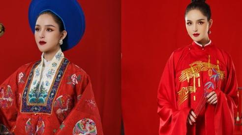 Á hậu Hoàng Anh đẹp kiêu sa đài các trong thiết kế cổ phục Việt