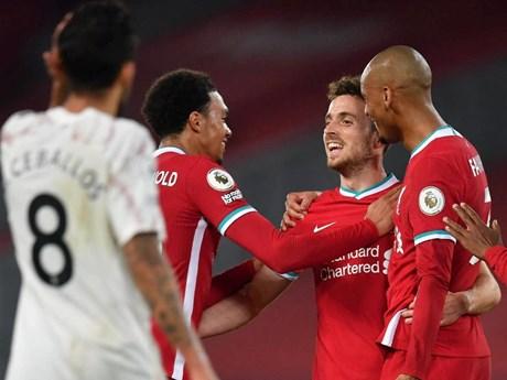 Tân binh Jota lập công giúp Liverpool ngược dòng đánh bại Arsenal