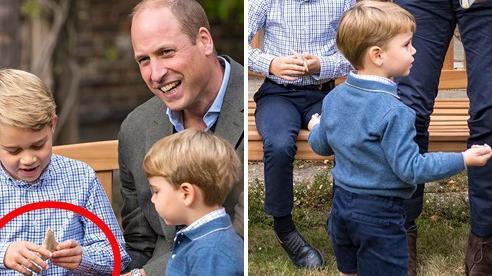 Hoàng tử George lần đầu tiên bị 'đòi quà' công khai trong khi cộng đồng mạng nhận ra chi tiết thú vị về bé út Louis