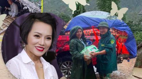 Thái Thùy Linh khuyên các đoàn cứu trợ không nên đem gạo vào miền Trung lúc này