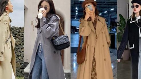 4 màu áo trench coat được những nàng sành điệu diện nhiều nhất mùa lạnh