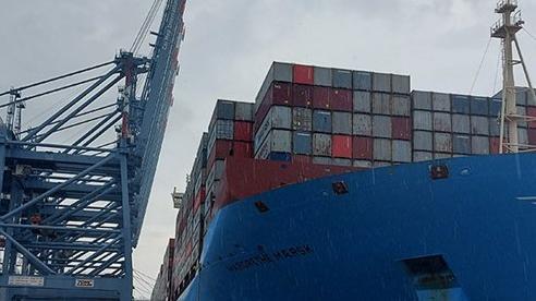 Tàu container lớn nhất thế giới cập cảng Cái Mép