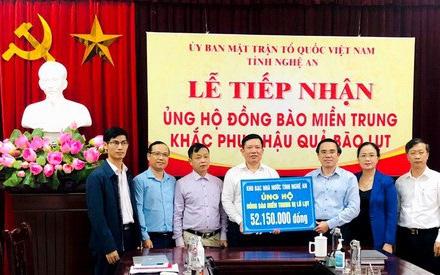 Nghệ An: Kêu gọi 47,294 tỷ đồng ủng hộ đồng bào miền Trung khắc phục sau lũ