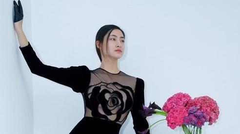Hoa hậu Lương Thùy Linh lần đầu úp mở vòng 1 táo bạo đến thế