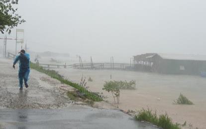 Bão số 9 gây mưa gió dữ dội, 2 người ở Quảng Ngãi tử vong