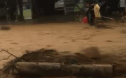 Video: Cụ ông bị dòng nước lũ chảy xiết cuốn trôi, người dân hoảng hốt lao ra cứu