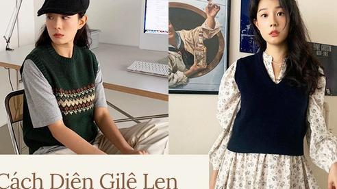 7 công thức bạn nên 'ghim' để diện gilê len chuẩn chỉnh như gái Hàn