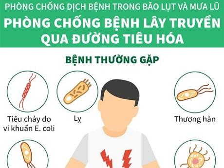 [Infographics] Phòng chống dịch bệnh trong bão lụt và mưa lũ
