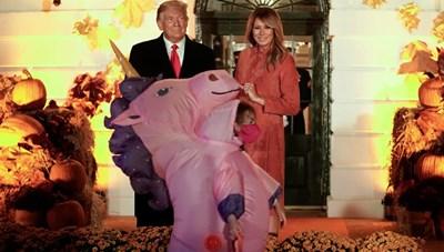 [ẢNH] Vợ chồng Tổng thống Trump mở tiệc Halloween tại Nhà Trắng