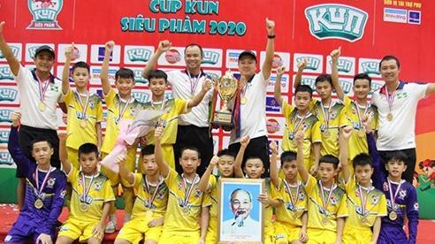 Đội Sông Lam Nghệ An lần thứ 6 vô địch Giải bóng đá Nhi đồng toàn quốc
