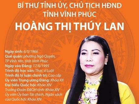 Bí thư Tỉnh ủy, Chủ tịch HĐND tỉnh Vĩnh Phúc Hoàng Thị Thúy Lan