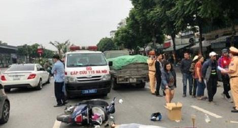 Va chạm với xe tải chở xi măng, nữ sinh tử vong