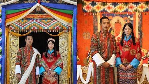 Nàng công chúa 'vạn người mê' của Bhutan bất ngờ lên xe hoa, nhan sắc cô dâu, chú rể gây chú ý