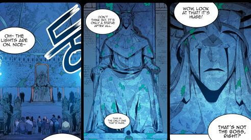 Solo Leveling: Tất tần tật về tượng thiên thần, sức mạnh vừa đánh 'sấp mặt' Jin woo trong hầm ngục kép