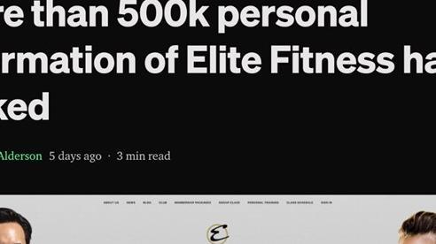 Elite Fitness bị lộ dữ liệu hơn 500.000 khách hàng?