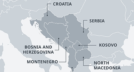'Tiểu Schengen' phía tây bán đảo Balkan