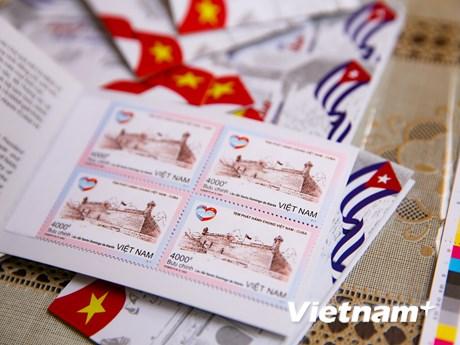 Việt Nam-Cuba phát hành chung bộ tem kỷ niệm quan hệ ngoại giao