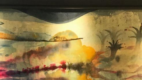 Chiêm ngưỡng tác phẩm nghệ thuật kết hợp giữa giấy giang và lụa