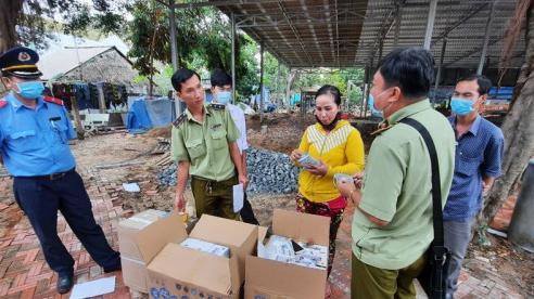 Tạm giữ 7.500 cái khẩu trang không rõ nguồn gốc và nhiều mỹ phẩm xuất xứ Thái Lan