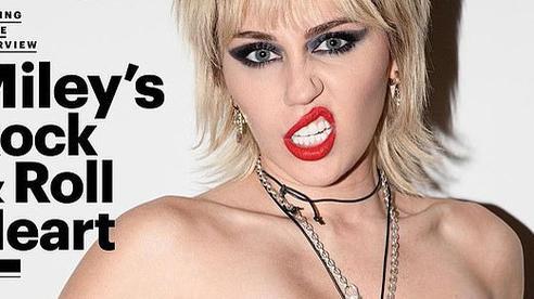 Miley Cyrus 'nổi loạn' trên bìa tạp chí