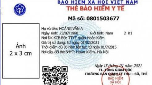 Đổi thẻ BHYT mẫu mới từ tháng 4/2021