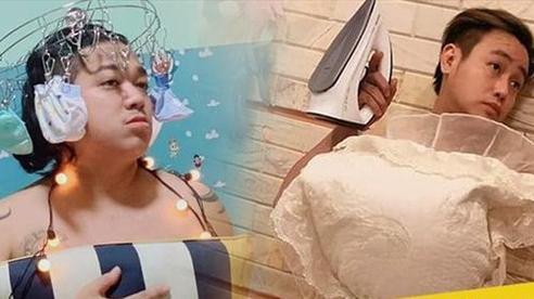 Khóc thét khi các 'ông bố bỉm sữa' của showbiz Việt đu trend 'biến gối thành váy'