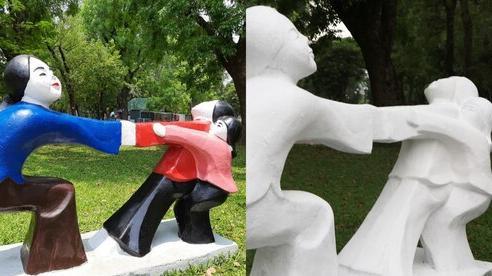 Bị phản ứng như cú sốc thị giác, tượng ở Công viên Thống Nhất được 'lột xác' liên tục