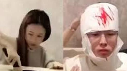 Dùng dao mở hộp quà khủng, cô gái suýt bổ đôi đầu bạn trai bên trong