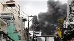 Cháy công ty sản xuất giày dép tại TP Hồ Chí Minh