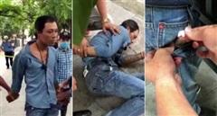 Gặp Cảnh sát 141, gã đàn ông vứt xe máy bỏ chạy thục mạng