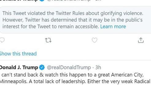 Ông Trump viết gì mà Twitter phải cho ẩn?