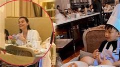 Đang mang song thai, Hà Hồ vẫn đưa con trai đi vui chơi cuối tuần: Nhan sắc mẹ bầu qua camera thường gây chú ý!