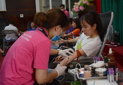 Thu 320 đơn vị máu  trong Ngày hội hiến máu phường Ngọc Thụy