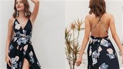 Những mẫu váy hở lưng mê hoặc chị em ngày hè