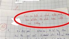 Bài kiểm tra được điểm 10 nhưng lời phê của giáo viên 'có 1-0-2' khiến ai cũng chú ý