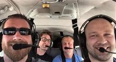 Máy bay cỡ nhỏ rơi, 4 người đàn ông tử nạn