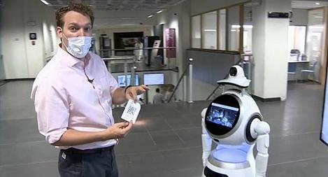 Bỉ đưa vào sử dụng robot sàng lọc sốt, hỗ trợ phát hiện COVID-19