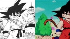 Dragon Ball: So sánh ảnh đen trắng với bản gốc anime, kẻ tám lạng người nửa cân, Goku vẫn quá 'chất'