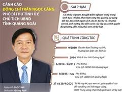 Quá trình công tác của Chủ tịch UBND Quảng Ngãi Trần Ngọc Căng