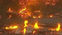 Hỏa hoạn dữ dội thiêu rụi kho hàng 'khủng' của Amazon ở Mỹ