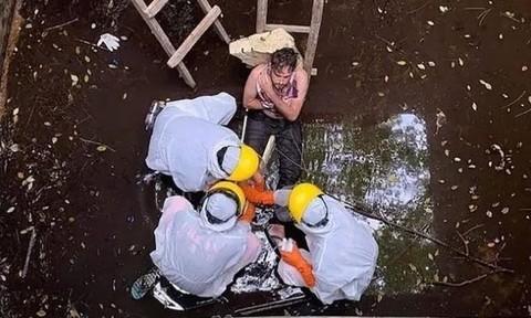 Du khách sống sót hy hữu khi kẹt gần một tuần dưới hồ nước