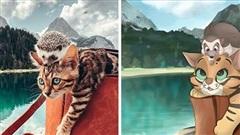 Họa sĩ gây sốt khi hô biến bức ảnh thú cưng thành 'ngôi sao' phim hoạt hình